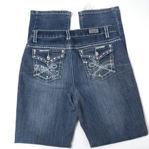 Earl embellished straight leg jeans size 4